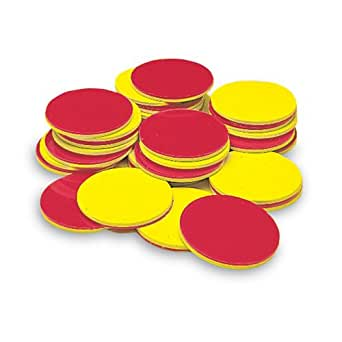 ETA hand2mind Plastic Two-Color Counters, Set of 200