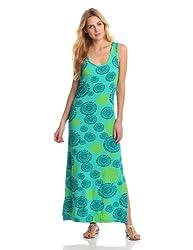 Hatley Women's Print Maxi Dress, Rainforest Mandala, Large