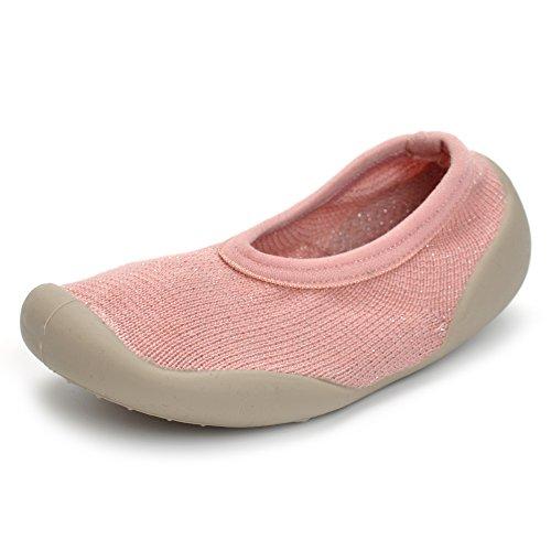 Enteer Baby Boys Girls Rubber First Walking Sneakers Sock Shoes