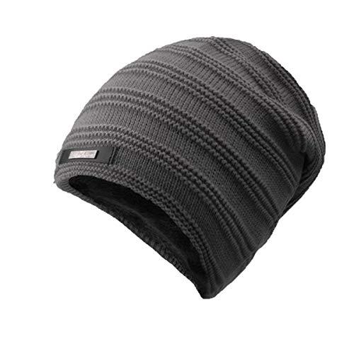 de Color cálido Sombrero Cabeza de Un Do tamaño sólido Punto de los de Willsego A Hombres de Color Grueso Invierno Sombrero Sombrero tamaño de Terciopelo más la qP7tw5xd