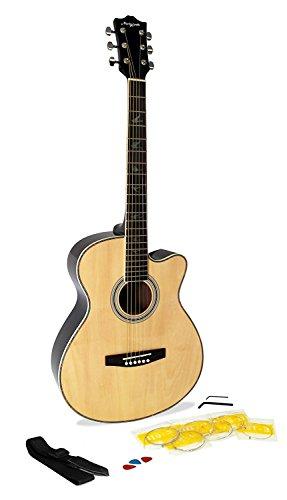 Martin Smith W-401E Electro Acoustic Guitar with Cutaway - Natural