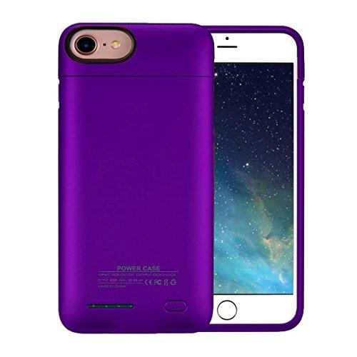 iPhone 7 Plus Battery Case,BIGFOX iPhone 8 Plus/7 Plus Charger Case 4200mAh Magnetic Battery Cases Slim Rechargeable External Battery Pack for iPhone 8 Plus/7 Plus/6S Plus/6 Plus (Purple)