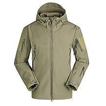 Webetop Mens Outdoor Tactical Softshell V4.0 Shark Skin WaterProof Breathable Fleece Hooded Jacket Military Coat