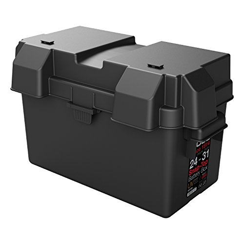 NOCO Black HM318BKS Group 24-31 Snap-Top Box for Automotive, Marine, and RV Batteries - Nhra Battery Box