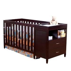 BSF Baby Austin Convertible Crib N Changer, Espresso