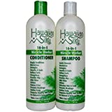 Hawaiian Silky Miracle Worker Shampoo & Conditioner, 16 fl oz | Strengthen & Repair Damaged Hair | Sulfate-Free, Paraben-Free