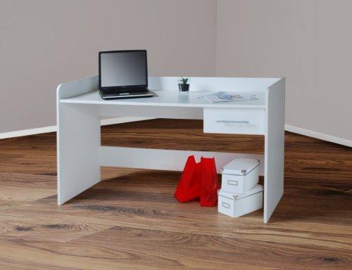4510 -2- Kinderschreibtisch Schreibtisch, höhenverstellbar, 140cm breit (weiß)