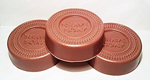 3 Pack Shaving Soap made with Shea Butter Red Earth Clay