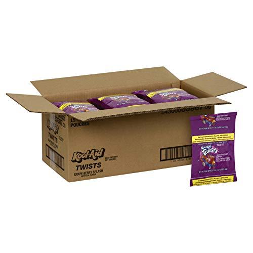 (Kool Aid Twists Grape Berry Splash Powdered Drink Mix, 21.1 Ounce - 15 per)