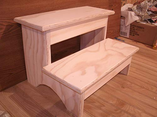 """Handmade grownup step stool 12"""" high 2 step step stool wooden step stool step stool from Becky's Shelves and Country Crafts"""