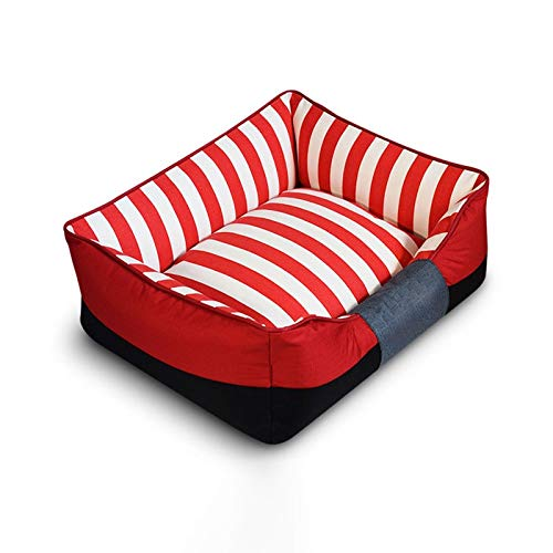 RED S RED S MUMUCW Pet Bed for Cats Small Dogs,Soft Comfy Washable Cat Dog Bed with Removable Cushion (color   RED, Size   S)