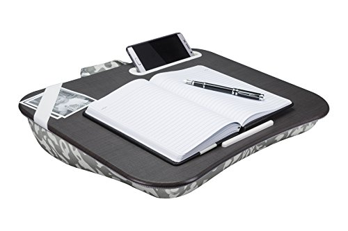 LapGear Designer Lap Desk - Gray Damask (Fits up to 17.3 Laptop)