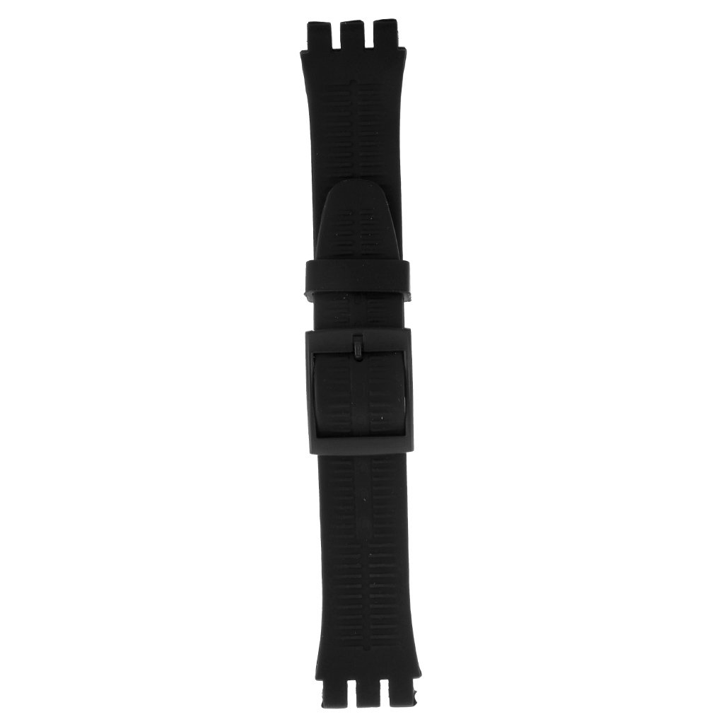 monkeyjackソフトシリコンラバー時計ベルト19 mm防水リストバンドfor見本交換ストラップ ブラック ブラック B078XC2FCS