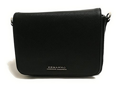 BORSA DONNA ERMANNO SCERVINO A MANO/TRACOLLA FLAP BAG NEW ANYA SOLID NERO BS18ES36