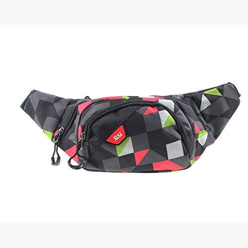 Cindley Multiple Pocket Sport Waist Pack, Big Capacity Fanny Bags Single Shoulder Hip Belt Bag Universal Man and Woman Fanny Packs Hiking Climbing Outdoor