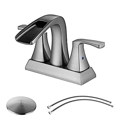 Parlos 2-Handle Bathroom Sink Faucet with Drain Assembly and Hose Lead-free cUPC Brushed Nickel, Oil Rubbed Bronze