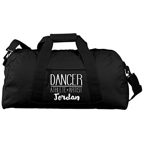 Jordan Dancer, Athlete & Artist: Liberty Large Square Duffel Bag by FUNNYSHIRTS.ORG