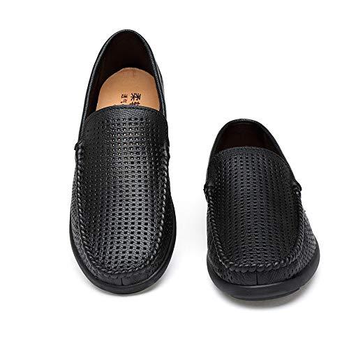 Plano pie Plano Dedo Black del los de Moccasins talón talón del del de Zapatos resbalón del Desgaste del de cómodos Hombres la Resistencia cómodo Hollow del zwYPWHfq
