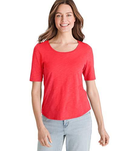 Chico's Women's Cotton-Blend Slub Elbow-Sleeve Tee Size 16/18 XL (3) -