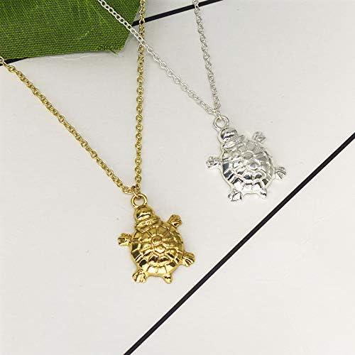 MIXIA Bohemia Sea Turtle Necklace Small Cute Animal Tortoise Necklace Sea Life Pet Charm Necklace Boho Jewelry 18