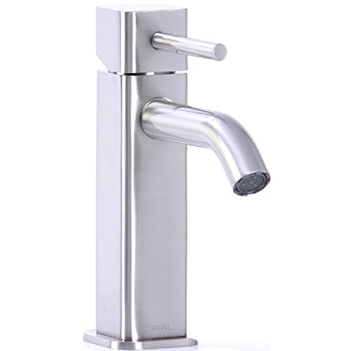 (Cifial 224.100.620 Techno Quadra Single Handle Bathroom Faucet, Satin)