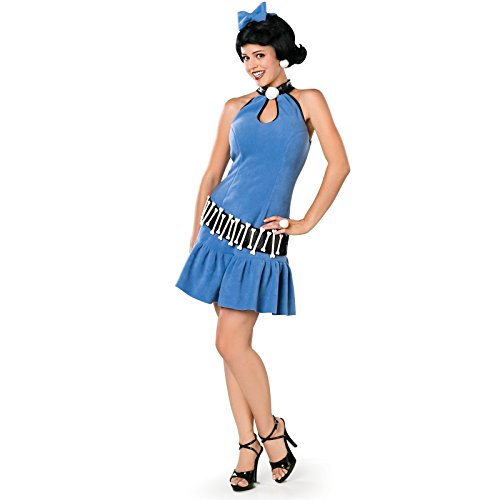 [Rubie's Costume Co Women's The Flintstone's Fuller Cut Betty Rubble Costume, Blue, Medium] (Wilma Flintstone And Betty Rubble Costumes)