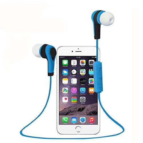 TOOPOOT Bluetooth Wireless In-Ear Stereo Waterproof Sports Headphones (Blue)