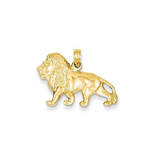 14k Yellow Gold Lion Charm Pendant ()