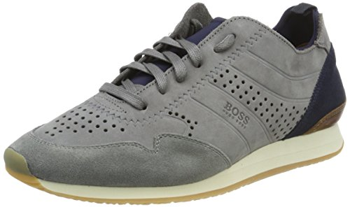 nuun1 Grey BOSS Medium Adrenal Homme Runn Sneakers Basses Gris z67wSqZ