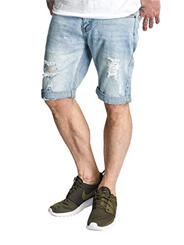 Rocawear Herren Shorts Relax Short R00J9911LS Light Wash Destroyed 828