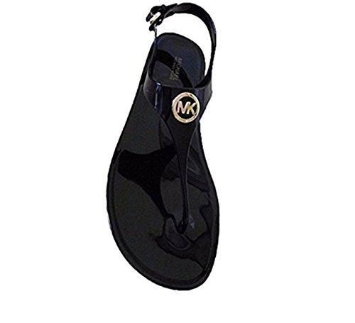 (Michael Kors PVC Jelly' Buckle Black Sandal Women's Size 7 Medium)