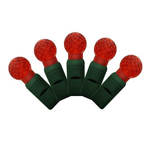Strings Light Led G12 (G12 Red LED string lights 25ft (50bulbs) - G12 Berry Christmas lights Raspberry)