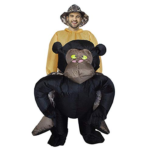 Cabina Home Inflatable Costumes Adult Funny Gorilla Ride On Halloween Cosplay Costumes Blow Up Gaint Suit Fancy Dress for Men Women Party]()