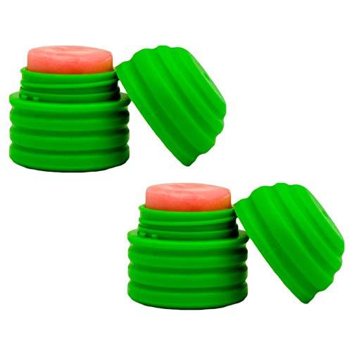 Revo Lip Balm Watermelon Flavor Push Ups (2 Pack) with Vitamin E and Aloe