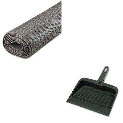KITCWNFL3610GYRCP2005CHA - Value Kit - Crown Ribbed Anti-Fatigue Mat (CWNFL3610GY) and Rubbermaid-Chrome Heavy Duty Dust Pan (RCP2005CHA) by Crown