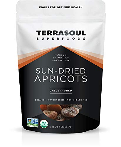 Terrasoul Superfoods Sun-Dried Apricots Unsulphured (Organic), 32 Ounce