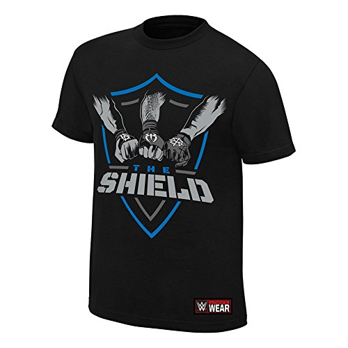 The Shield Hands In United WWE Authentic Mens Black T-shirt-4XL by WWE Authentic Wear