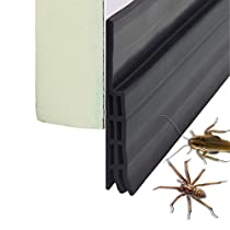 VITAM AMO Door Sweep Draft Stopper Sound Blocker, Self Adhesive Weather Stripping Waterproof Dustproof 5cm Width x 100cm Length (White)