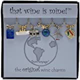 Wine Things WT-1404P Bon Voyage Painted Wine Charms