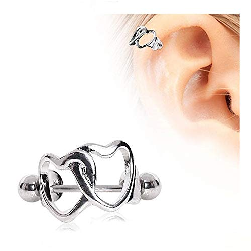 - Interlocked Hearts Cartilage Cuff 316L Surgical Steel