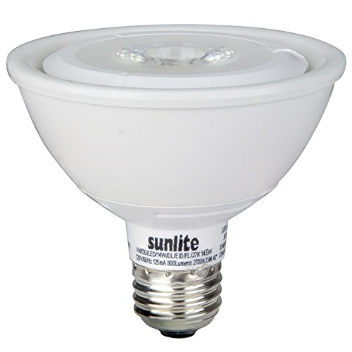 (Sunlite PAR30/LED/14W/FL40/DIM/ES/27K LED 2700K PAR30 14.5W 75W Replacement 120V Medium Base PAR30 Outdoor Series Reflector with Dimmable Energy Star Bulb, Warm White)