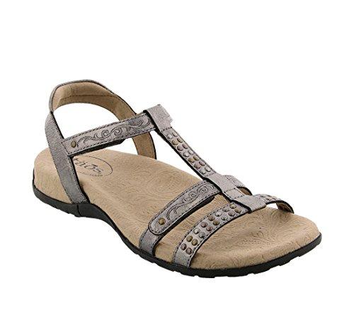 Sandal Footwear Sandals - Taos Footwear Women's Award Pewter Sandal 7 B (M) US