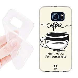 Hanifa Dirar Hadad's Shop 2906740M65548408 Head Case Designs Sane Coffee Fix Soft Gel Back Case Cover for Samsung Galaxy S6 G920, Galaxy S6 Duos