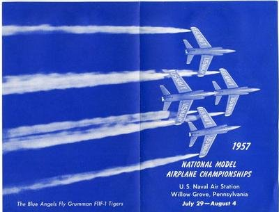 National Model Airplane Championship Program 1957 Naval Air Station Willow - Stores Willow Grove