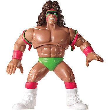 WWE Retro Collection Ultimate Warrior Action Figure 4.5 Inches (Retro Action Figures)