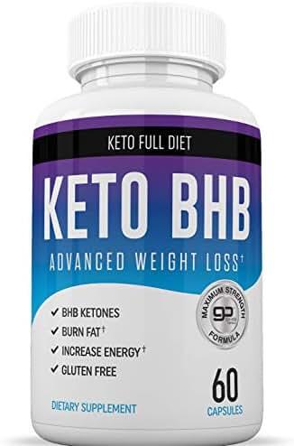 Keto BHB Diet Pills - Ketogenic Keto Weight Loss Pills for Women and Men - Keto Diet Supplement BHB Salts - Ketosis Keto Supplement Exogenous Ketones - Keto Pills Weightloss 60 Capsules