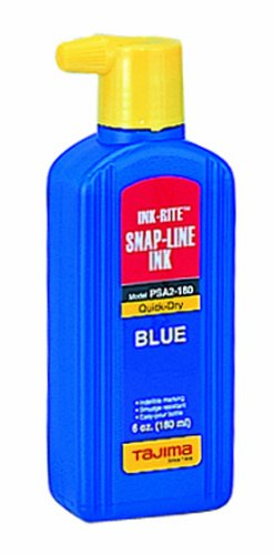 Tajima PSA2-180 Ink-Rite 6-Ounce Quick Dry Blue Ink with Easy Fill Nozzle