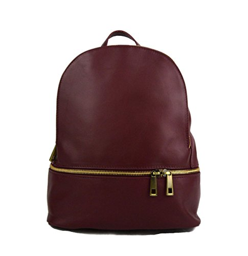 Backpack leather small backpack womens luxury backpack burgundy soft leather small backpack leather satchel ladies travel bag by ItalianHandbags