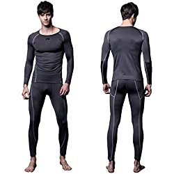 FX Mens MAXHEAT Soft Fleece Long Johns Thermal Underwear Set Grey M