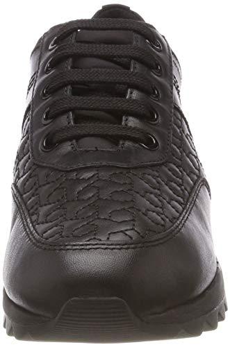 Geox Mujer C9999 Black Tabelya para Zapatillas D B XArw4Xx
